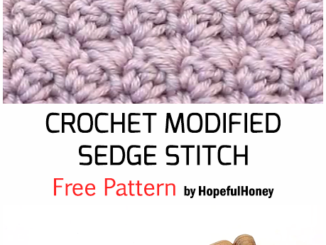 Crochet Modified Sedge Stitch - Free Pattern