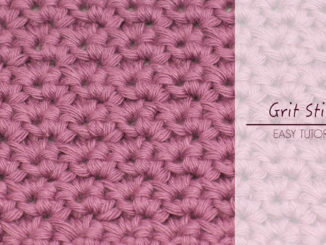 How To Crochet The Grit Stitch - Easy & Quick Tutorial For Beginners + Free Pattern