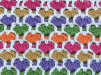 Crochet Moroccan Hearts Stitch - Easy Tutorial