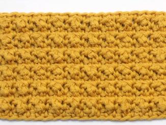 Crochet Aligned Cobble Stitch Blanket