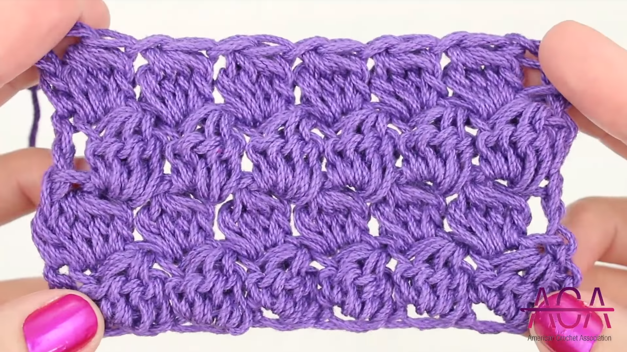 Crochet Bobble Stitch Baby Blanket Crochetaholic