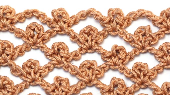 Crochet The Picot Trellis Stitch - Step By Step Video Tutorial + Free Pattern