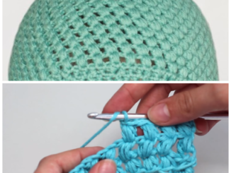 Crochet The Puff Stitch Beanie - Easy Tutorial And A Free Pattern For Beginners