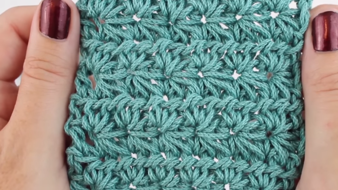 How To Crochet Star Stitch Baby Blanket - Easy Tutorial + Free Video For Beginners