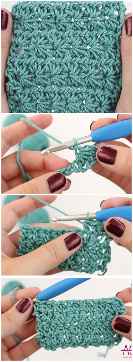 Star Stitch Crochet Easy Tutorial