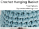 Crochet Hanging Basket - Free Pattern From The Collection Of Easy Patterns