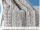 Crochet Celtic Afghan Baby Blanket - Free Pattern