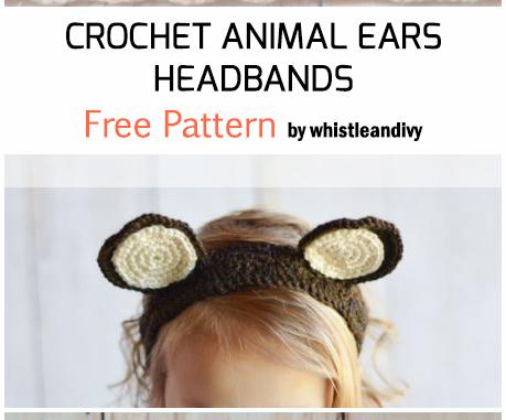 Crochet Animal Ears Headbands - Free Pattern For Beginners