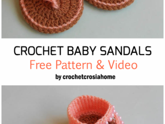 Crochet Baby Sandals - Free Pattern + Video Tutorial