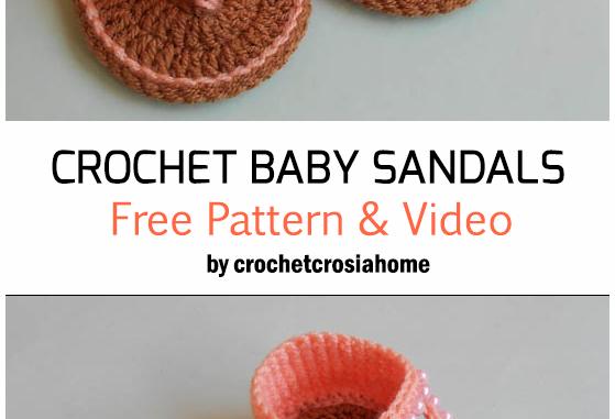 Crochet Baby Sandals - Free Pattern + Video Tutorial