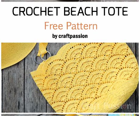 Crochet Beach Tote - Free Pattern