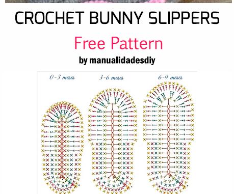 Crochet Bunny Slippers - Free Pattern