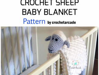 Crochet Cuddle And Play Sheep Baby Blanket - Pattern