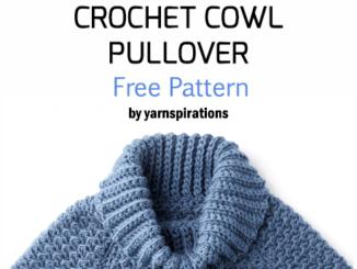Crochet Curvy Cowl Pullover - Free Pattern