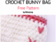 Crochet Cute Bunny Bag - Free Pattern
