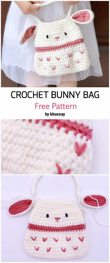Crochet Cute Bunny Bag - Free Pattern