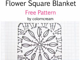 Crochet Daisy Flower Square Baby Blanket - Free Pattern