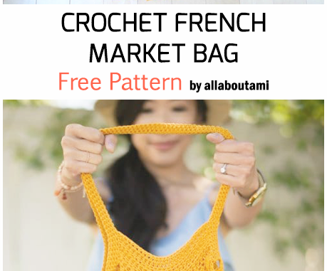 Crochet French Market Bag - Free Pattern