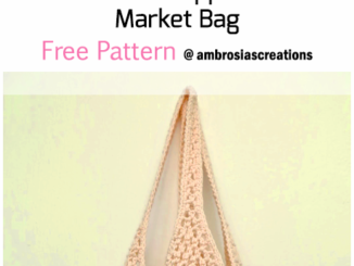 Crochet Pineapple Stitch Market Bag - Free Pattern