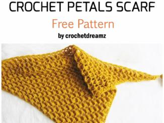 Crochet Rose Petals Scarf - Free Pattern