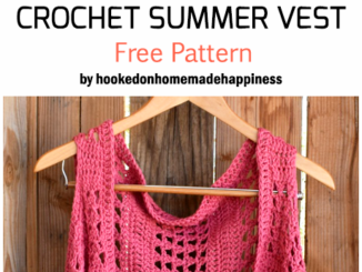 Crochet Summer Vest - Free Pattern