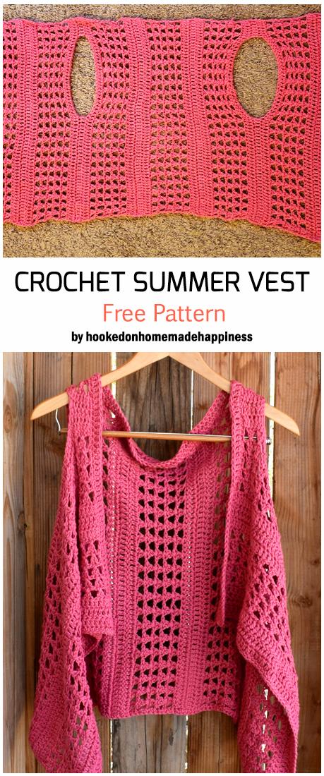 Crochet Summer Vest - Free Pattern