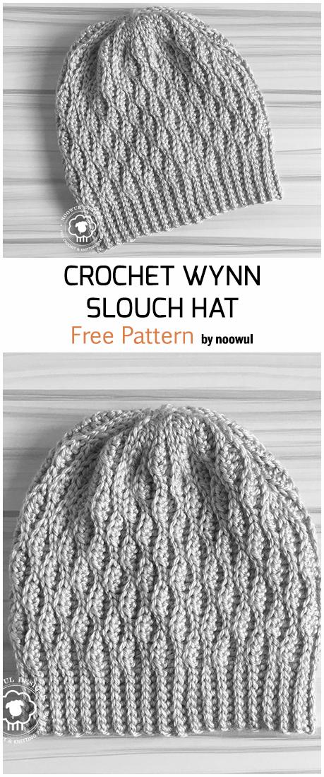 Crochet Wynn Slouch Hat - Free Pattern