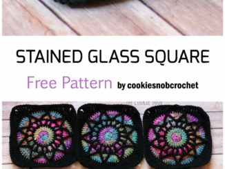 Crochet Stained Glass Square - Free Pattern