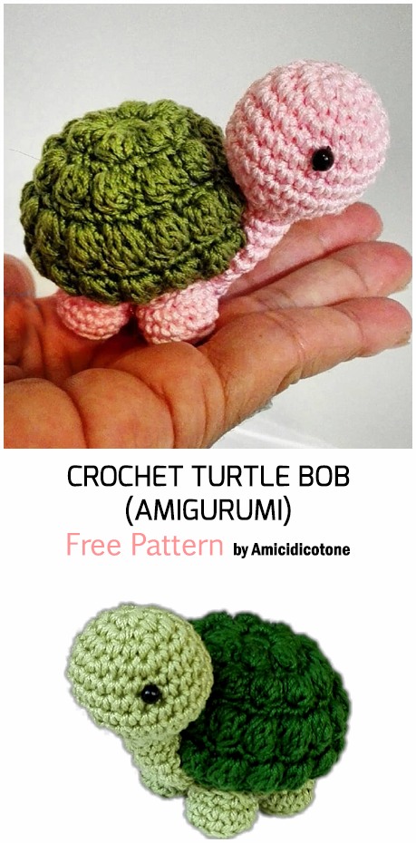 Crochet Amigurumi Turtle Keychains - Free Patterns