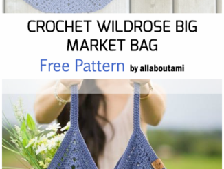 Crochet Big Wildrose Market Bag - Free Pattern