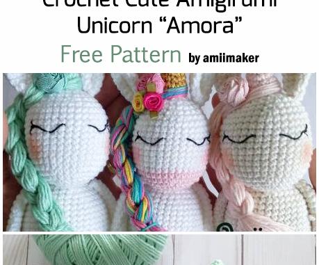 My First Amigurumi: Unicorn crochet - Tutorial step by step ... | 381x459