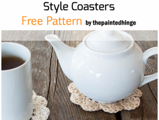 Crochet Farmhouse Style Coasters - Free Pattern