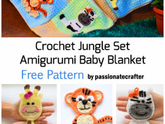 Crochet Jungle Set Amigurumi Baby Blanket - Free Pattern