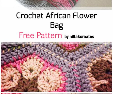 Crochet African Flower Bag - Free Pattern