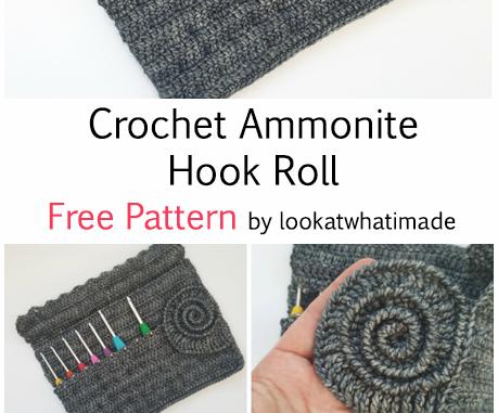 Crochet Ammonite Hook Roll - Free Pattern