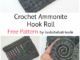 Crochet Ammonite Hook Roll - Free Pattern