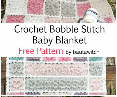 Crochet Bobble Stitch Baby Blanket - Free Pattern