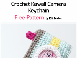 Crochet Kawaii Camera Keychain - Free Pattern