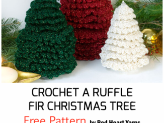 Crochet A Ruffle Fir Christmas Tree - Free Pattern