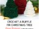 Crochet A Ruffle Fir Christmas Tree - Free Pattern