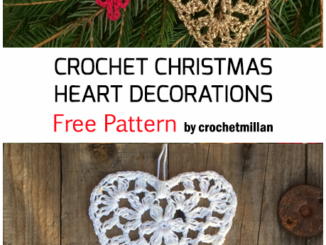 Crochet Heart Decorations For Christmas - Free Pattern