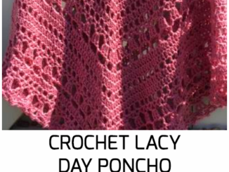 Crochet Lacy Day Poncho - Free Pattern