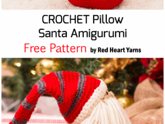 Crochet Pillow Santa Amigurumi For Christmas - Free Pattern