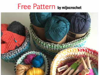 Crochet Double Double Storage Baskets - Free Pattern