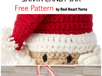 Crochet Santa Candy Jar For Christmas - Free Pattern