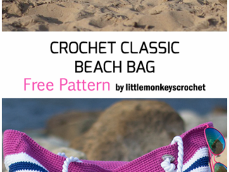 Crochet Classic Beach Bag - Free Pattern