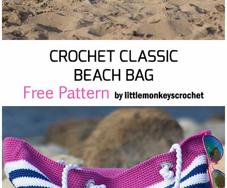 Crochet Classic Beach Bag - Free Pattern
