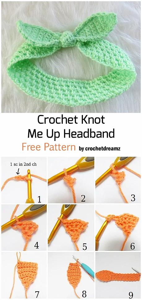 Crochet Knot  Me Up Headband - Free Pattern