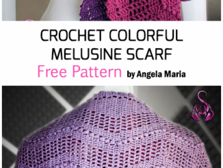 Crochet The Colorful Melusine Scarf - Free Pattern
