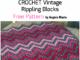 Crochet Vintage Rippling Blocks - Free Pattern